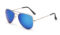 AVIANO METAL GOLD LARGE WITH BLUE MIRRORED TAC POLARIZED LENSES