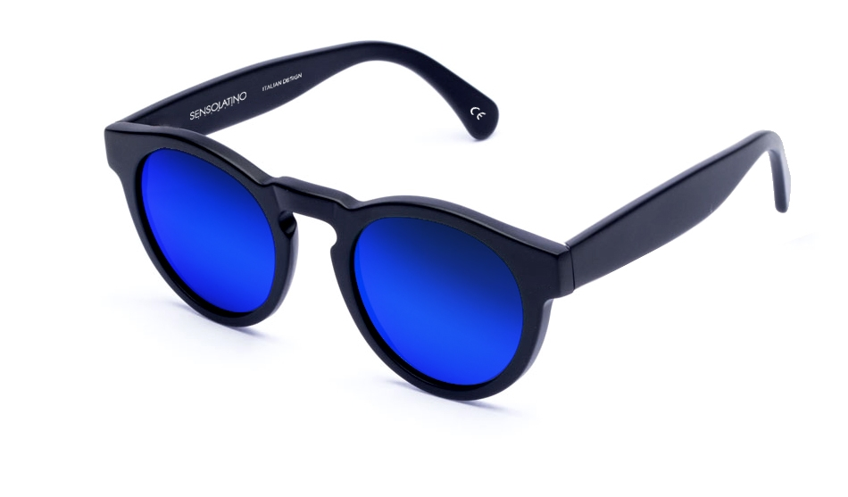 SLL05_Sensolatino Sunglasses Serie London WITH BLUE MIRRORED POLARIZED LENSES