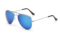 AVIANO METAL SILVER LARGE WITH BLUE MIRRORED TAC POLARIZED LENSES