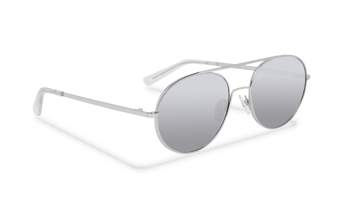 SL03SS_Sensolatino Sunglasses Serie SANTORINI WITH SILVER POLARIZED LENSES