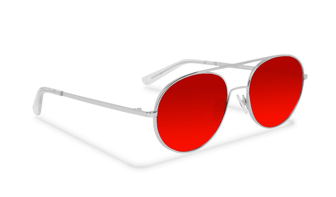 SL05SS_Sensolatino Sunglasses Serie SANTORINI WITH RED POLARIZED LENSES