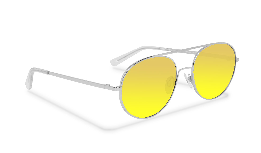 SL07SS_Sensolatino Sunglasses Serie SANTORINI WITH GOLD POLARIZED LENSES