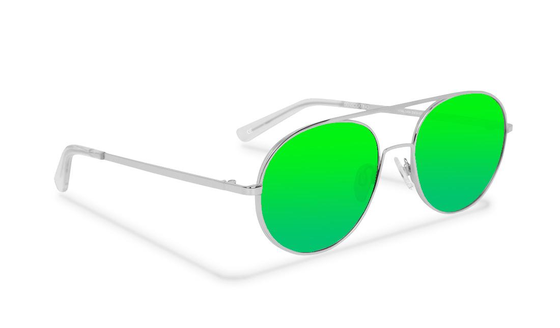 SL09SS_Sensolatino Sunglasses Serie SANTORINI WITH GREEN POLARIZED LENSES