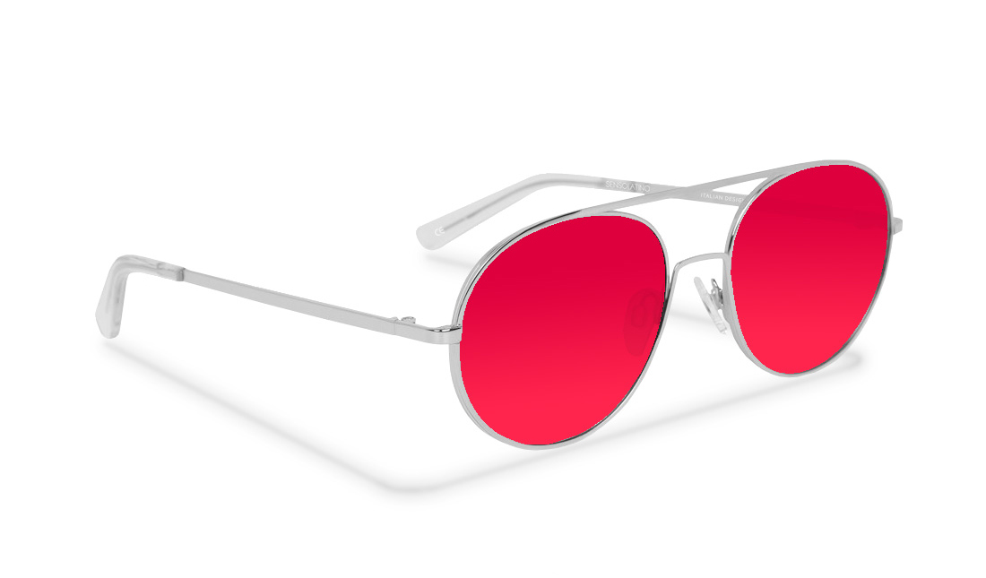 SL12SS_Sensolatino Sunglasses Serie SANTORINI WITH PINK POLARIZED LENSES