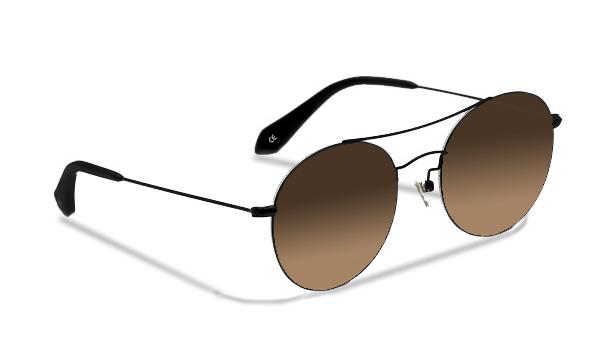 SLG14_Sensolatino Sunglasses Serie GENEVA WITH BROWN POLARIZED LENSES MAN
