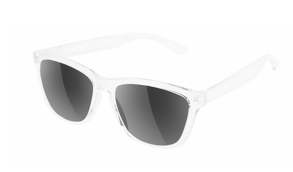 SLI01_Sensolatino Sunglasses Serie Italia Transparent WITH BLACK MIRRORED POLARIZED LENSES