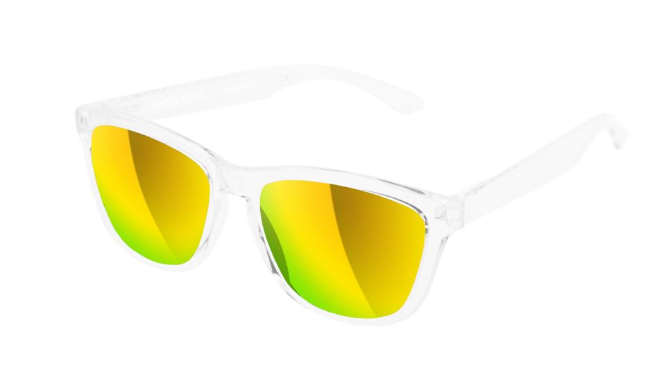 SLI04_Sensolatino Sunglasses Serie Italia Transparent WITH GOLD MIRRORED POLARIZED LENSES