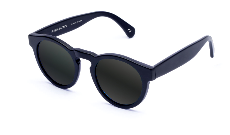 SLL01_Sensolatino Sunglasses Serie London WITH BLACK MIRRORED POLARIZED LENSES