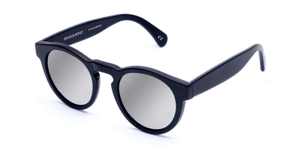 SLL03_Sensolatino Sunglasses Serie London WITH SILVER MIRRORED POLARIZED LENSES