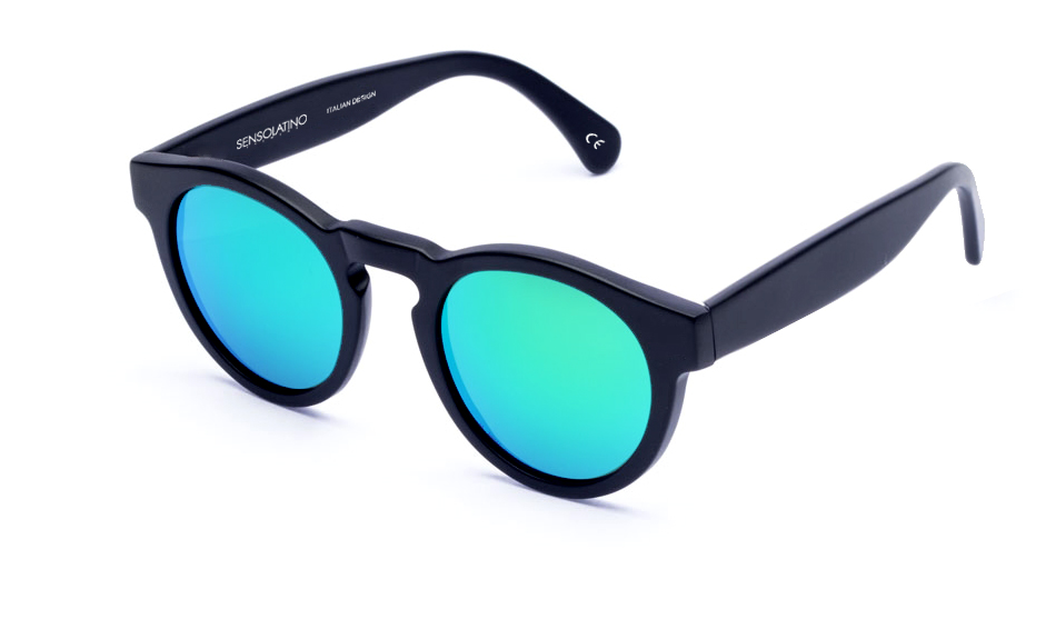 SLL06_Sensolatino Sunglasses Serie London WITH ICE BLUE MIRRORED POLARIZED LENSES