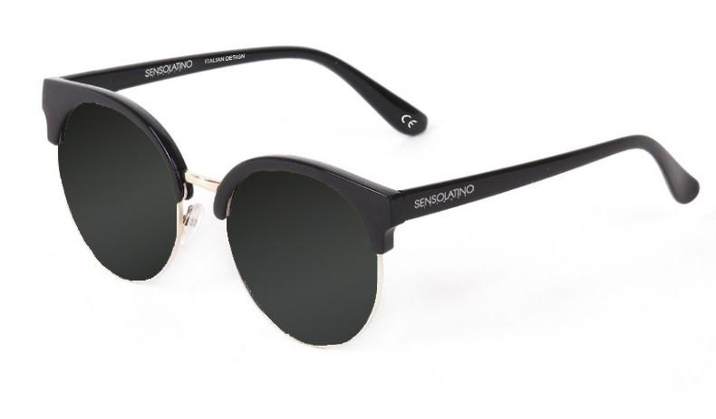 SLM01_Sensolatino Sunglasses Serie Miami WITH BLACK MIRRORED POLARIZED LENSES