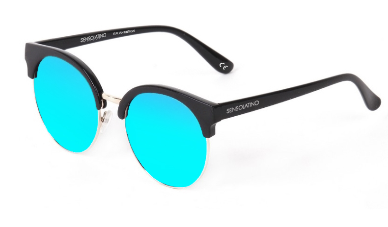 SLM04_Sensolatino Sunglasses Serie Miami WITH ICE BLUE MIRRORED POLARIZED LENSES