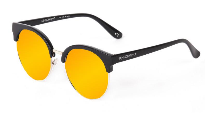 SLM06_Sensolatino Sunglasses Serie Miami WITH ORANGE MIRRORED POLARIZED LENSES