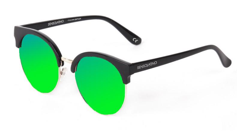 SLM07_Sensolatino Sunglasses Serie Miami WITH GREEN MIRRORED POLARIZED LENSES
