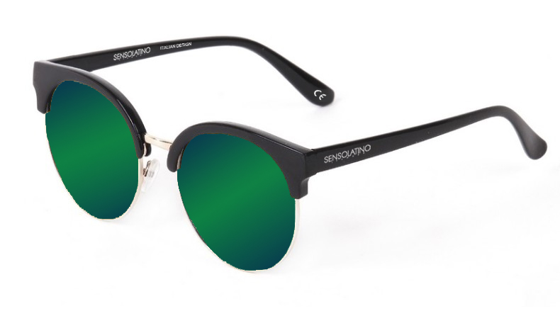 SLM08_Sensolatino Sunglasses Serie Miami WITH BLUE GREEN MIRRORED POLARIZED LENSES