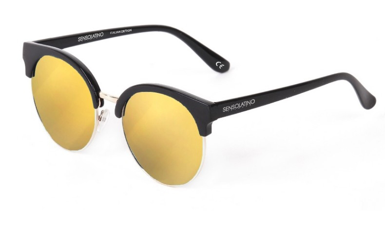 SLM09_Sensolatino Sunglasses Serie Miami WITH GOLD MIRRORED POLARIZED LENSES