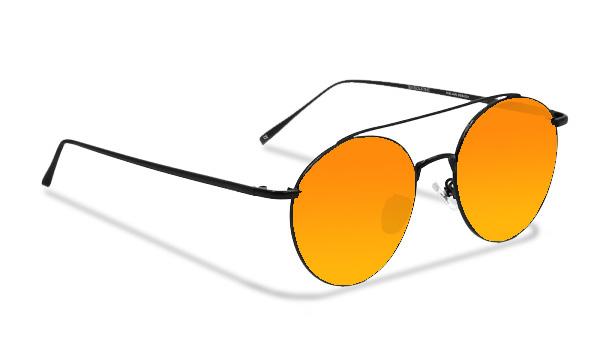SLMY08_Sensolatino Sunglasses Serie Italia MYKONOS WITH ORANGE POLARIZED LENSES