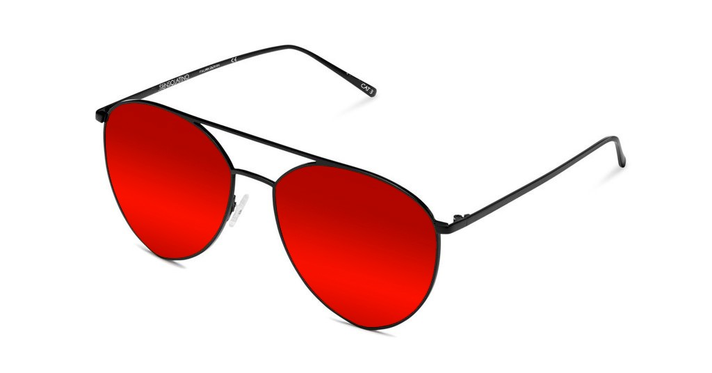 SLP06_Sensolatino Sunglasses Serie Portocervo WITH RED POLARIZED LENSES