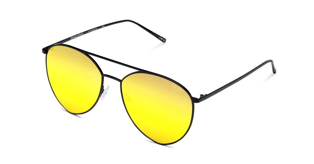 SLP08_Sensolatino Sunglasses Serie Portocervo WITH GOLD POLARIZED LENSES