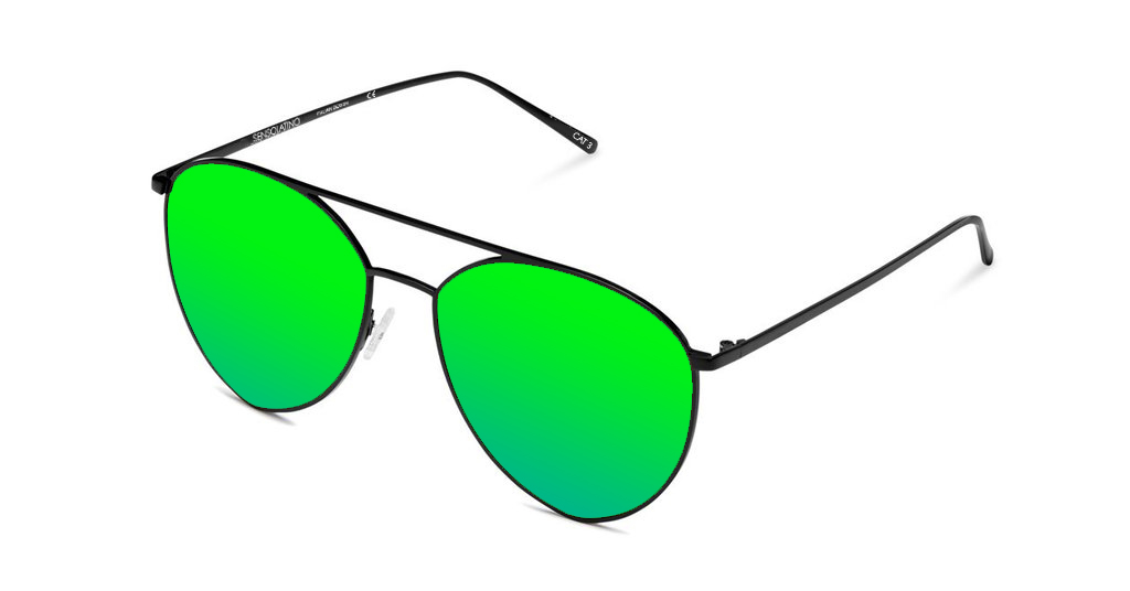 SLP10_Sensolatino Sunglasses Serie Portocervo WITH GREEN POLARIZED LENSES