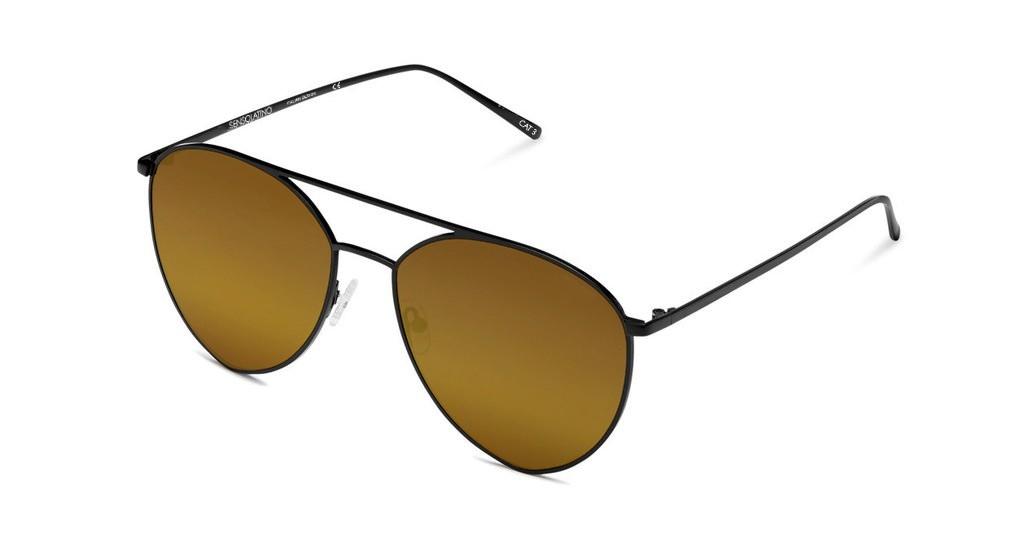 SLP16_Sensolatino Sunglasses Serie Portocervo WITH LUXURY GOLD POLARIZED LENSES