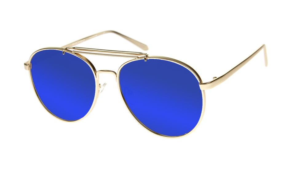 SLPS05_Sensolatino Sunglasses Serie Positano WITH BLUE MIRRORED POLARIZED LENSES Front