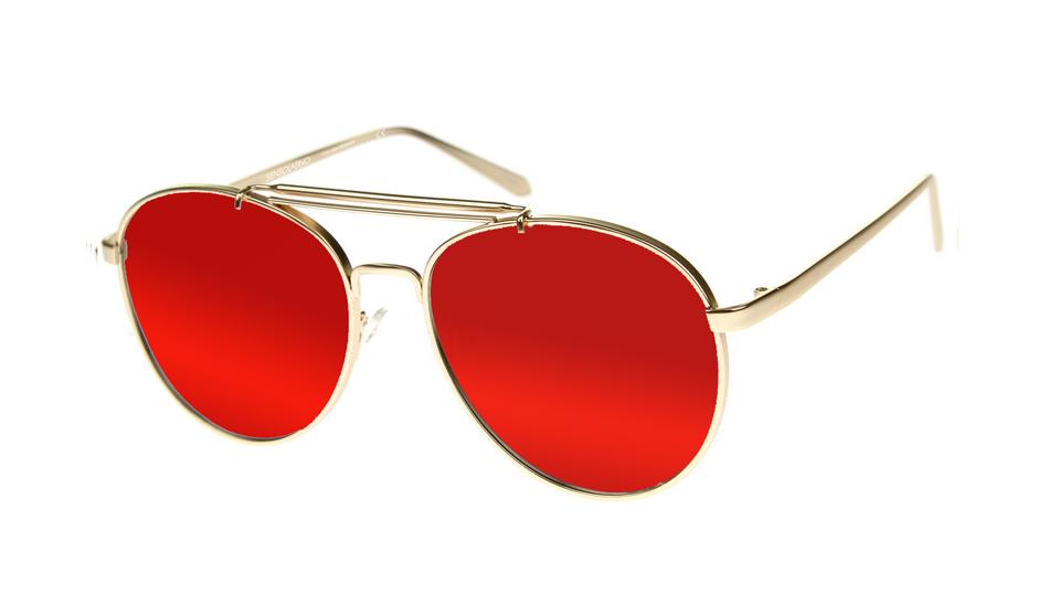 SLPS06_Sensolatino Sunglasses Serie Positano WITH RED MIRRORED POLARIZED LENSES Front