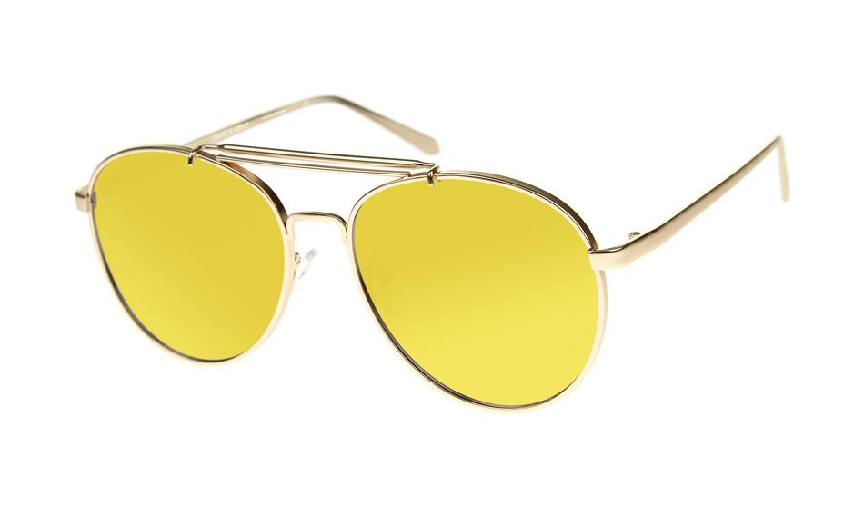 SLPS09_Sensolatino Sunglasses Serie Positano WITH GOLD MIRRORED POLARIZED LENSES Front