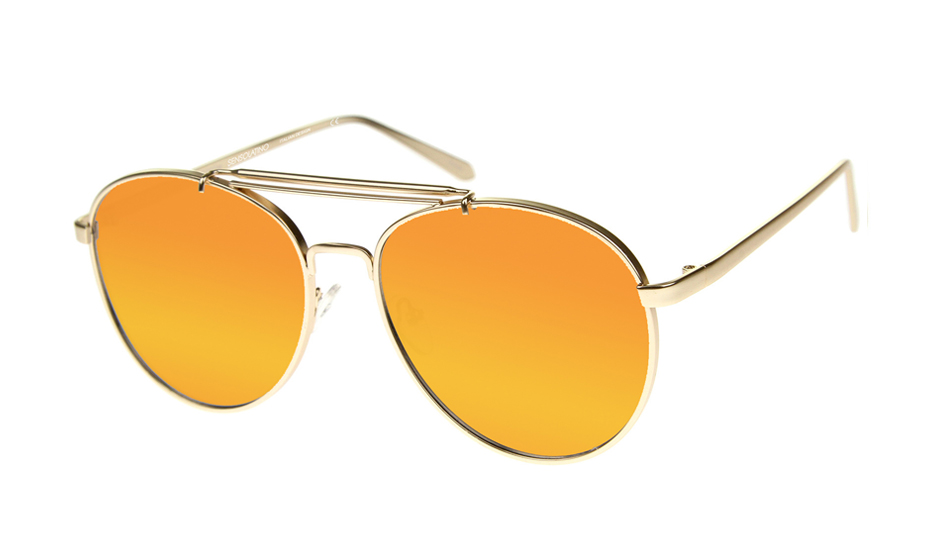 SLPS10_Sensolatino Sunglasses Serie Positano WITH ORANGE MIRRORED POLARIZED LENSES Front