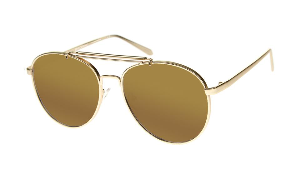 SLPS18_Sensolatino Sunglasses Serie Positano WITH LUXURY GOLD MIRRORED POLARIZED LENSES Front