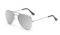 AVIANO METAL SILVER LARGE WITH SILVER MIRRORED TAC POLARIZED LENSES