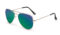 AVIANO METAL GOLD SMALL WITH BLUE GREEN MIRRORED TAC POLARIZED LENSES