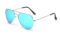 AVIANO METAL GOLD SMALL WITH ICE BLUE MIRRORED TAC POLARIZED LENSES