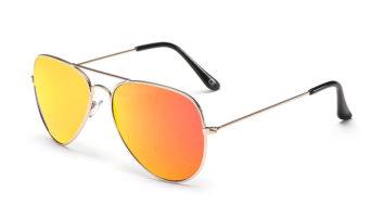 AVIANO METAL GOLD SMALL WITH ORANGE MIRRORED TAC POLARIZED LENSES