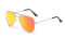 AVIANO METAL SILVER LARGE WITH ORANGE MIRRORED TAC POLARIZED LENSES