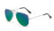 AVIANO METAL SILVER LARGE WITH BLUE GREEN MIRRORED TAC POLARIZED LENSES