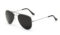 AVIANO METAL SILVER SMALL WITH BLACK MIRRORED TAC POLARIZED LENSES
