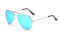 AVIANO METAL SILVER SMALL WITH ICE BLUE MIRRORED TAC POLARIZED LENSES