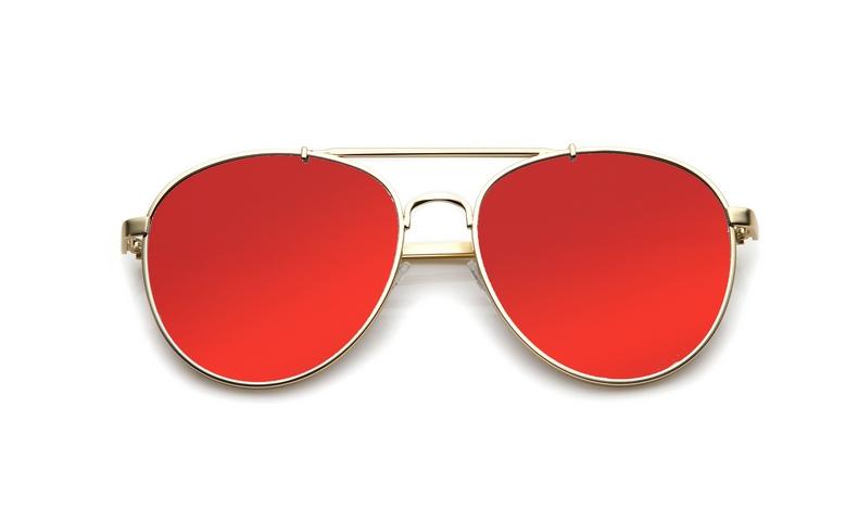 SLPS06_Sensolatino Sunglasses Serie Positano WITH RED MIRRORED POLARIZED LENSES