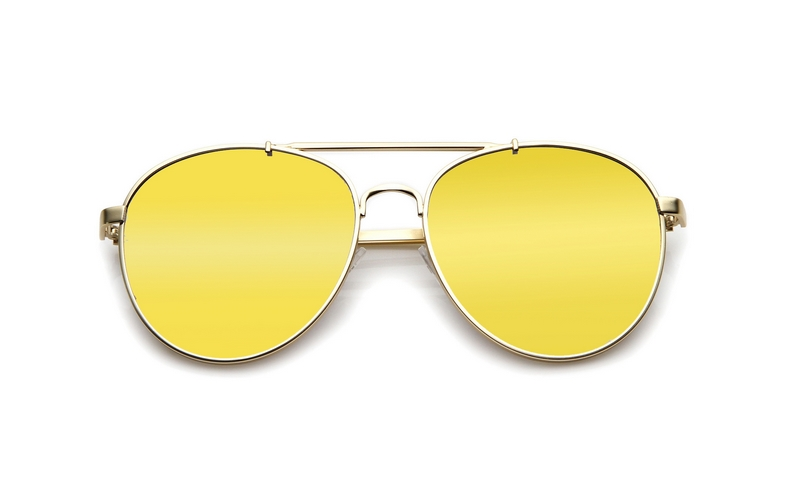 SLPS09_Sensolatino Sunglasses Serie Positano WITH GOLD MIRRORED POLARIZED LENSES