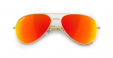 SLAV-03 0608410030541 SENSOLATINO® SERIES AVIANO LARGE GOLD FRAME WITH RED POLARIZED LENSES-F