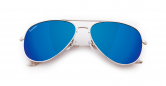 SLAV-12 0608410030589 SENSOLATINO® SERIES AVIANO LARGE SILVER FRAME WITH BLUE POLARIZED LENSES-F