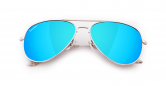 SLAV-13 0602860819367 SENSOLATINO® SERIES AVIANO LARGE SILVER FRAME WITH ICE-BLUE POLARIZED LENSES-F