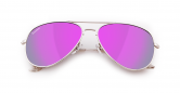 SLAV-17 0602860819657 SENSOLATINO® SERIES AVIANO LARGE SILVER FRAME WITH PINK POLARIZED LENSES-F