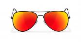 SLAV-19 0608410030411 SENSOLATINO® SERIES AVIANO SMALL BLACK FRAME WITH RED POLARIZED LENSES-F