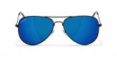 SLAV-20 0602860819411 SENSOLATINO® SERIES AVIANO SMALL BLACK FRAME WITH BLUE POLARIZED LENSES-F