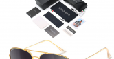 Sensolatino_Sunglasses_Aviano_Large_Gold_Coloured_Frame_with_Black_Polarised_Lenses