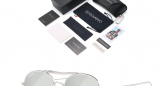 Sensolatino_Sunglasses_Positano_Silver_Coloured_Frame_with_SIlver_Polarised_Lenses