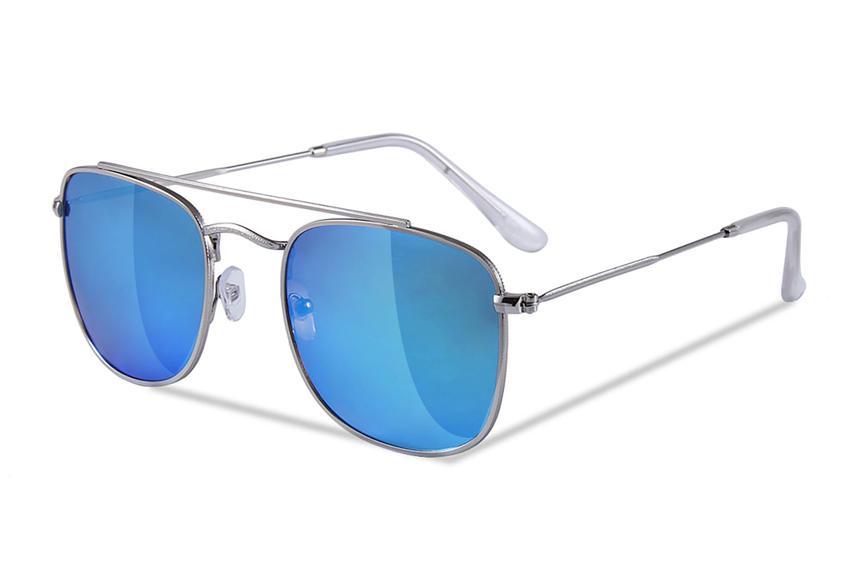 e39cbb9351 SENSOLATINO SERIES RODI SILVER FRAME WITH ICE BLUE MIRRORED POLARIZED LENSES