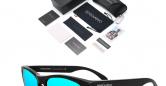 Sensolatino_Sunglasses_Italia_Mod_Rome_Black_Coloured_Polished_Frame_with_Iceblue_Polarised_Lenses